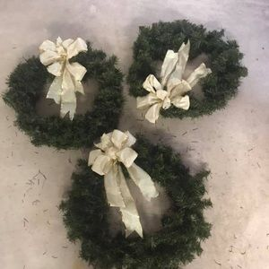 3 Holiday wreaths